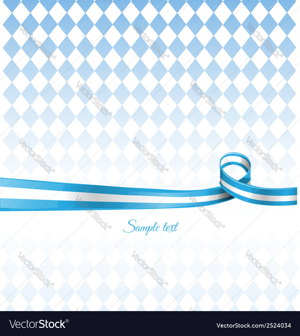 Bavarian ribbon flag on background vector | Price: 1 Credit (USD $1)