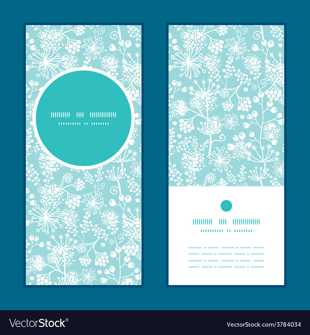Blue and white lace garden plants vertical vector | Price: 1 Credit (USD $1)