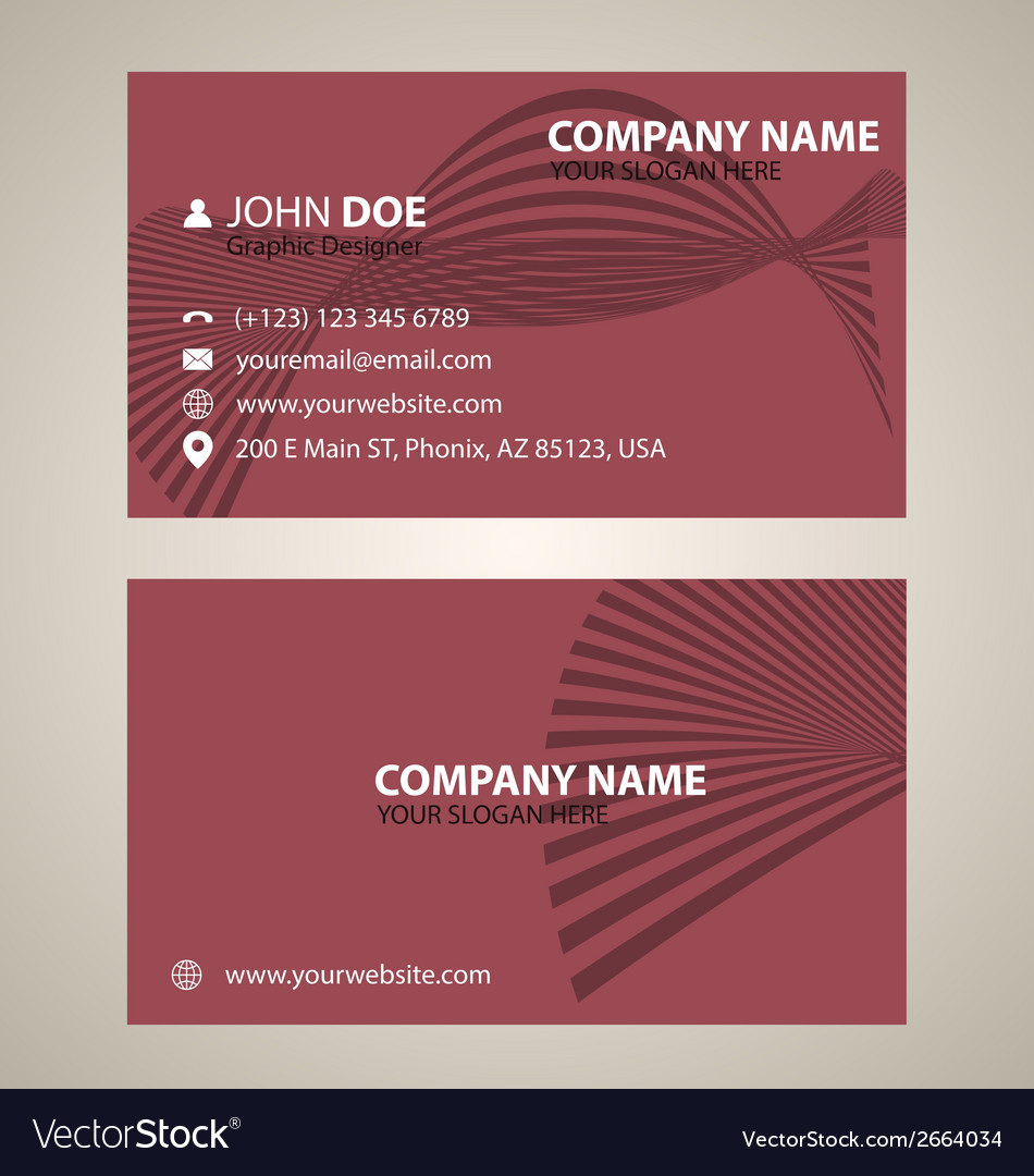 Corporate business card v 5 vector | Price: 1 Credit (USD $1)