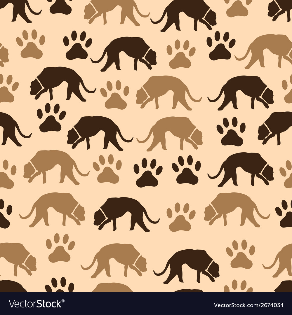 Dog and footprint seamless pattern eps10 vector | Price: 1 Credit (USD $1)