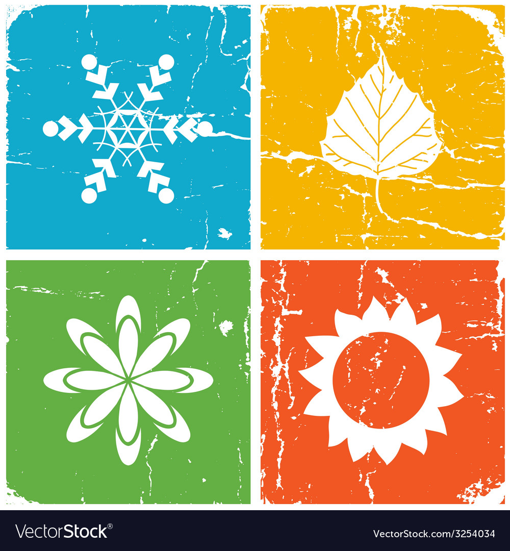 Four season vector | Price: 1 Credit (USD $1)