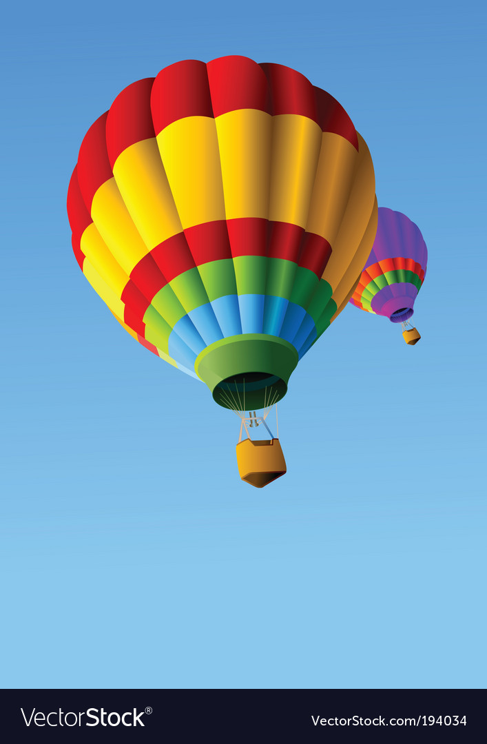 Hot air balloons background vector | Price: 1 Credit (USD $1)