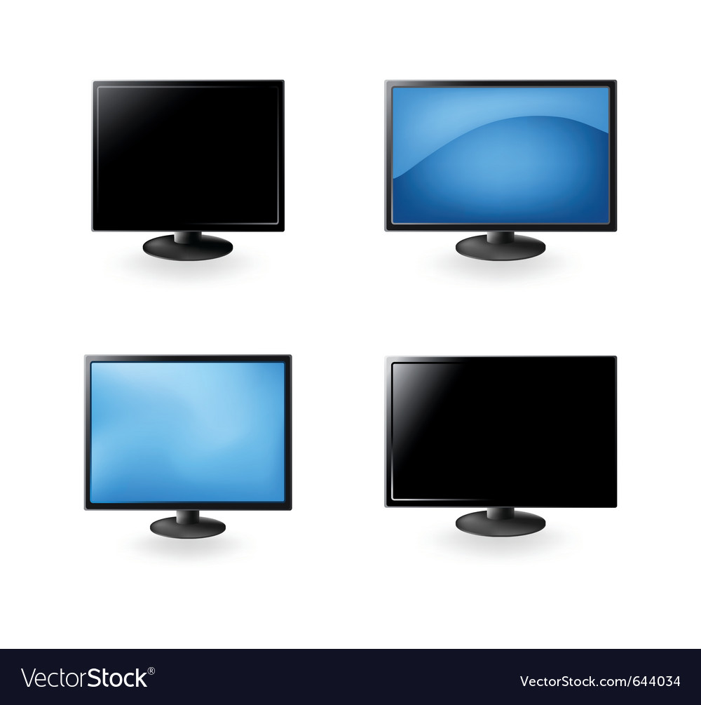 Lcd tv and monitors vector | Price: 1 Credit (USD $1)