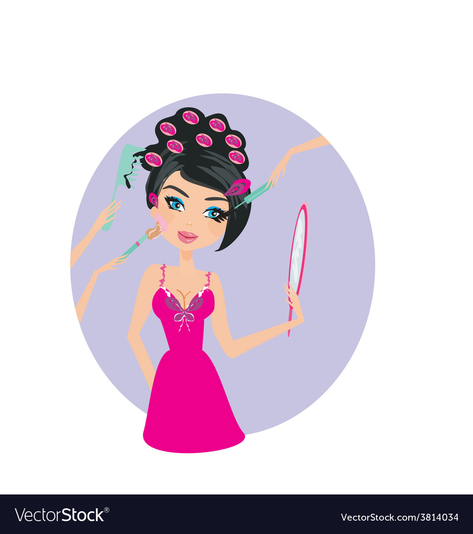 Make-up girl vector   Price: 1 Credit (USD $1)