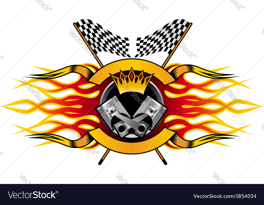 Motor racing championship icon vector | Price: 1 Credit (USD $1)