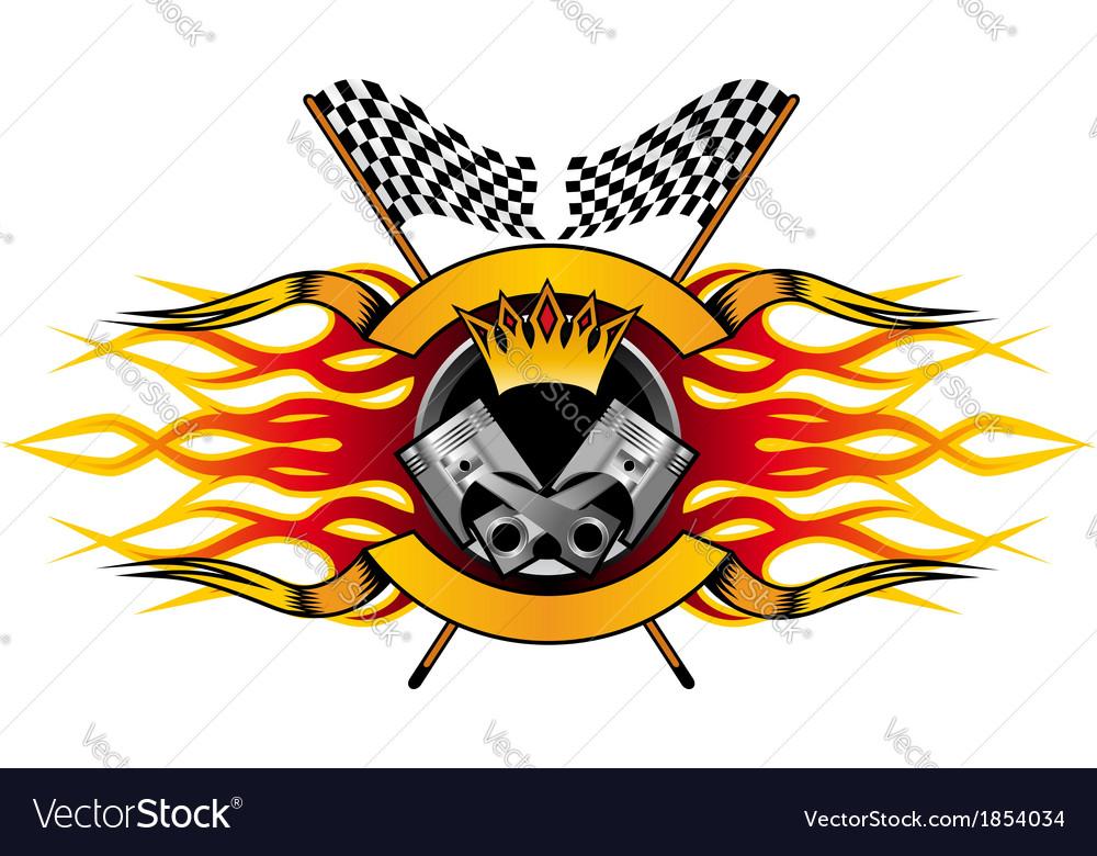 Motor racing championship icon vector | Price: 1 Credit (USD $1)