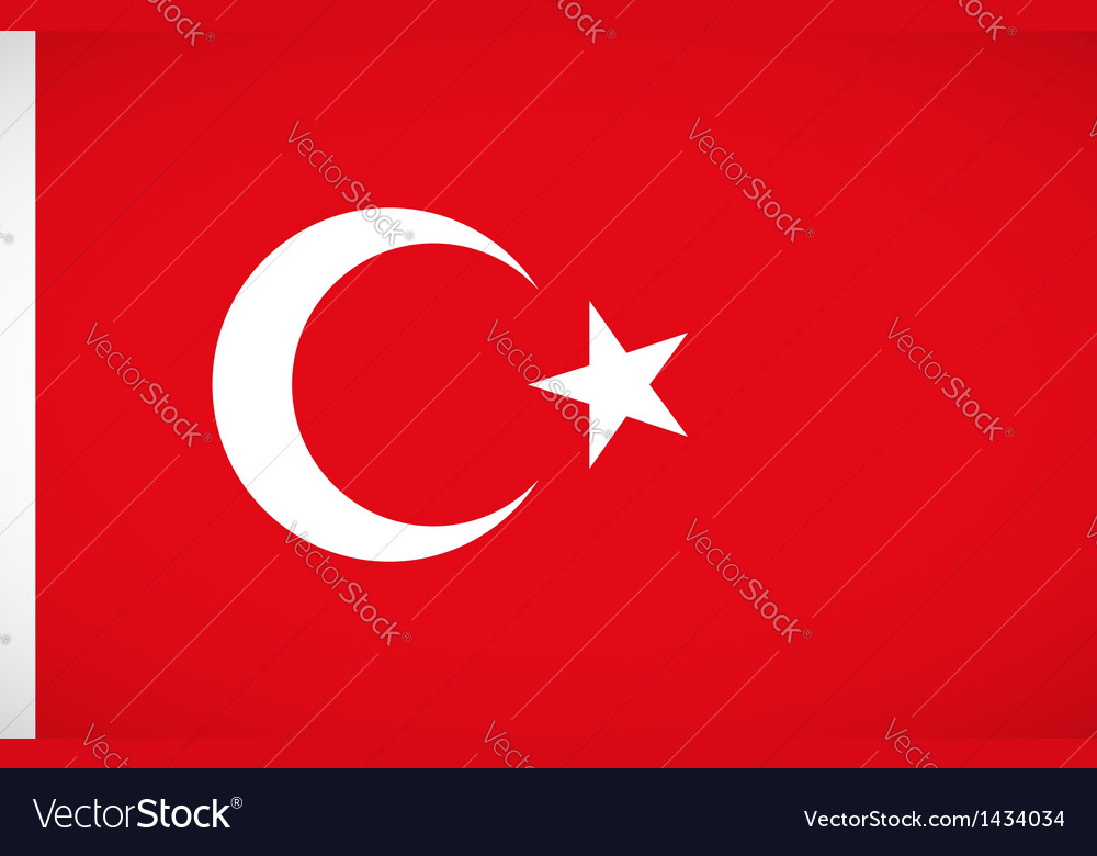 National flag of turkey vector | Price: 1 Credit (USD $1)