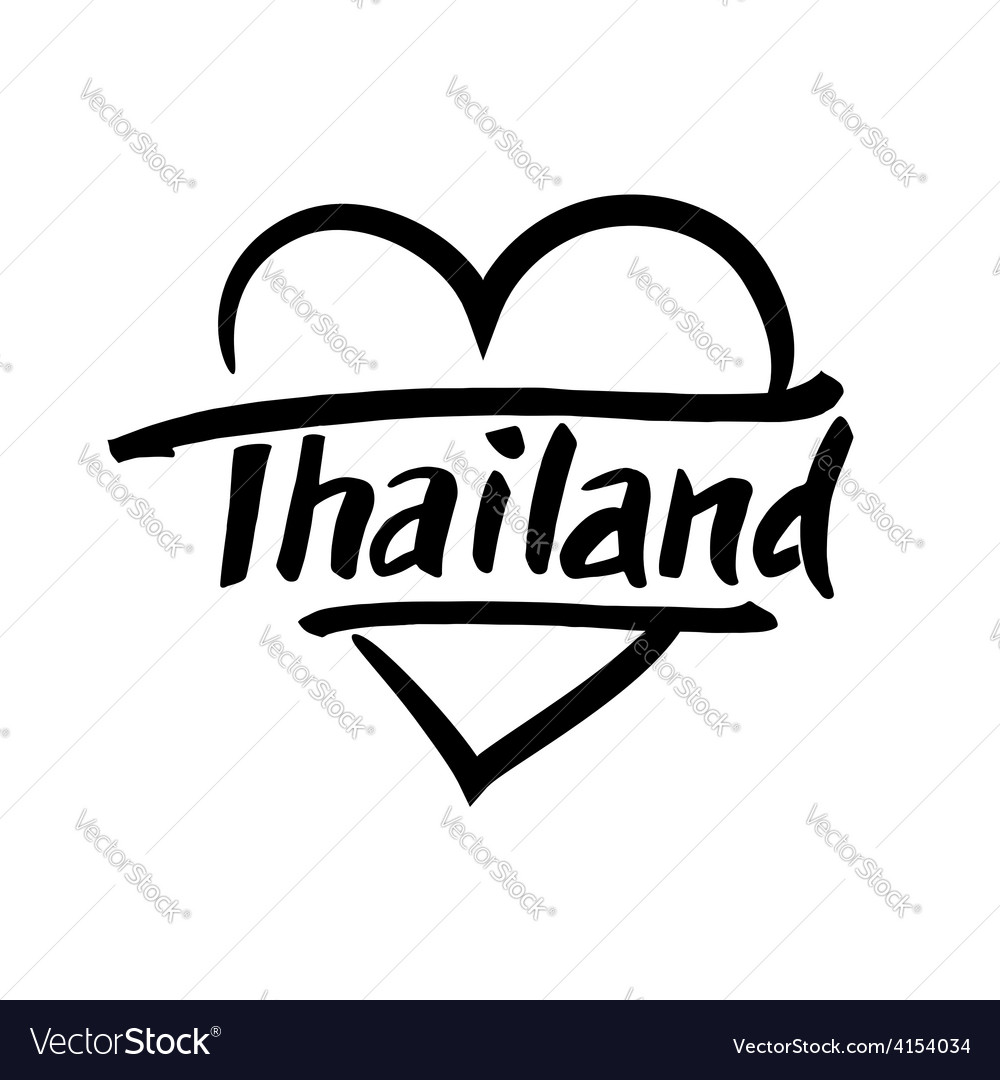 Thailand hand drawn lettering vector | Price: 1 Credit (USD $1)