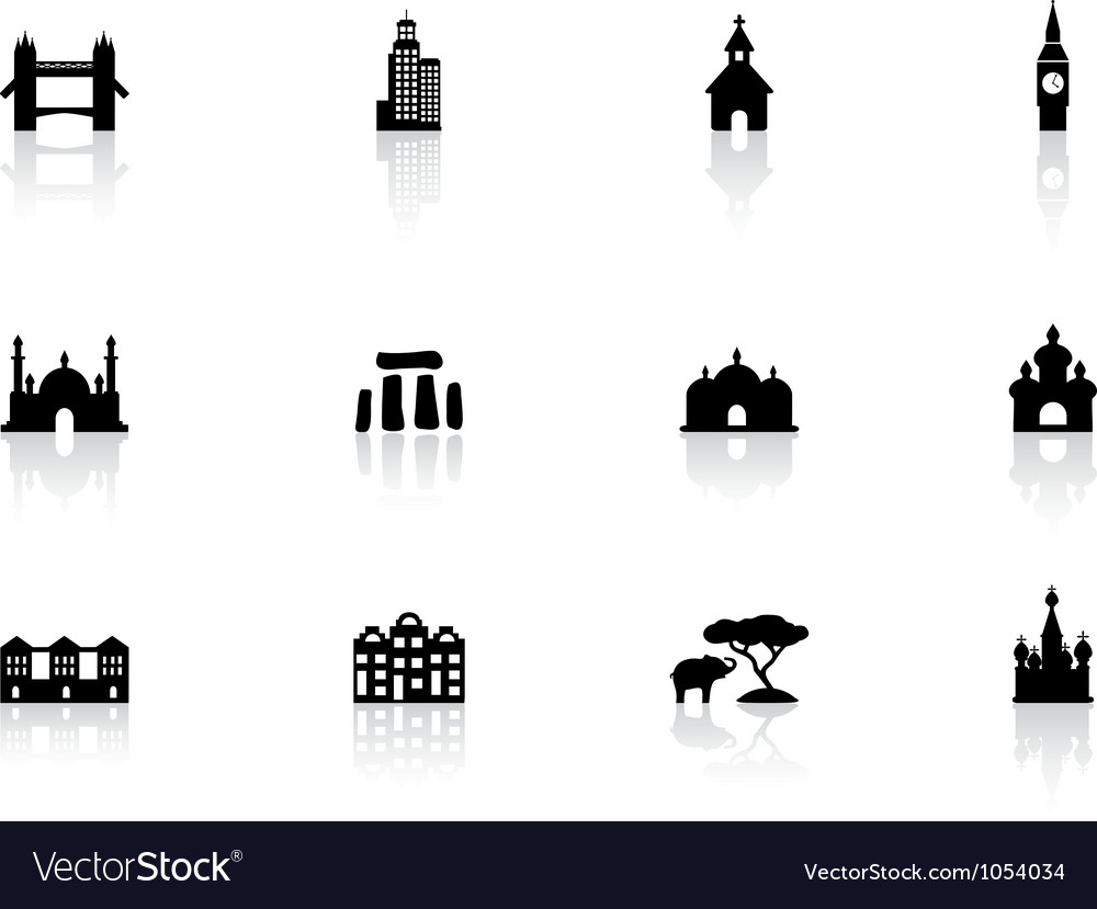 Web buttons landmark icons vector | Price: 1 Credit (USD $1)