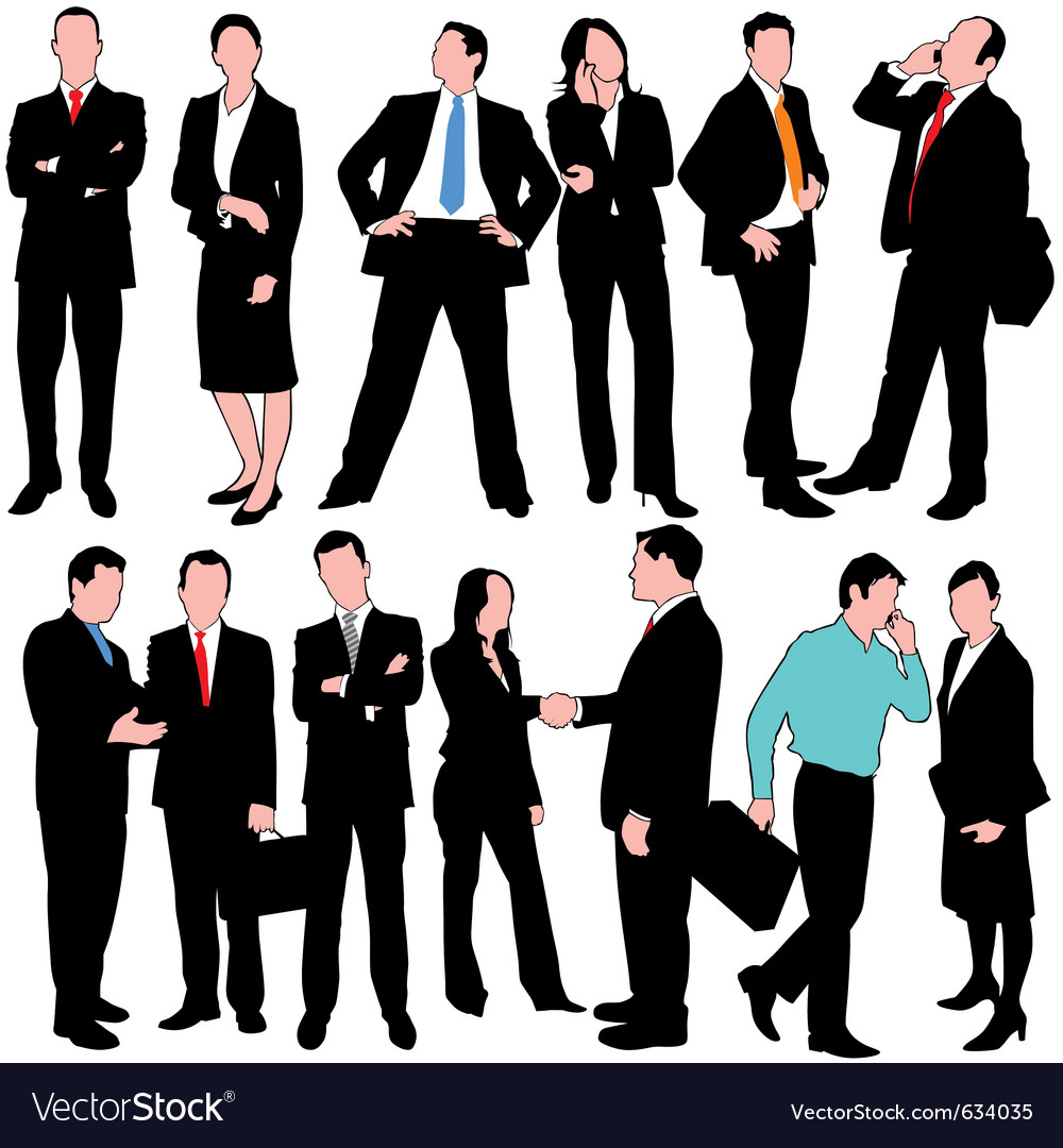 13 business people set vector | Price: 1 Credit (USD $1)