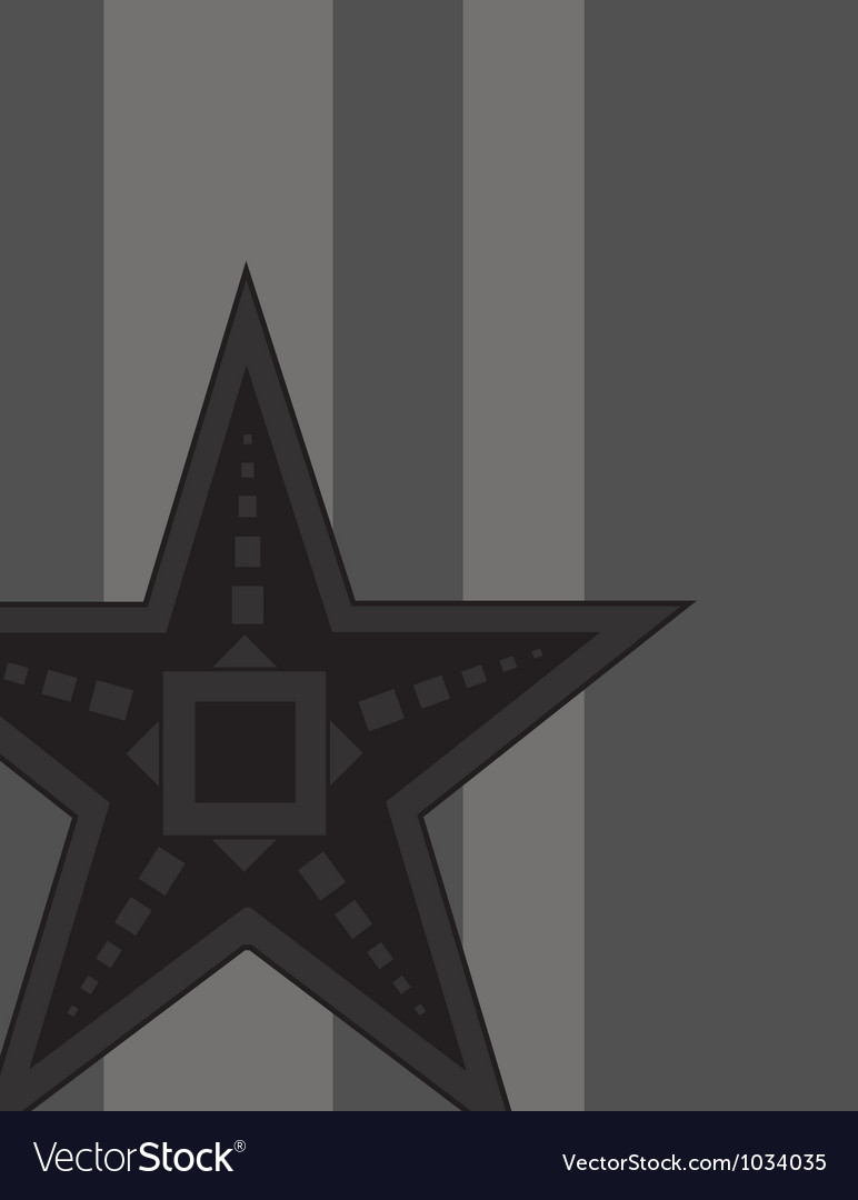 Black star vector | Price: 1 Credit (USD $1)