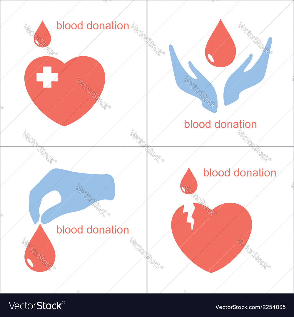 Blood donation icons vector | Price: 1 Credit (USD $1)