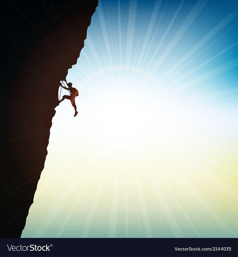 Extreme rock climber vector | Price: 1 Credit (USD $1)