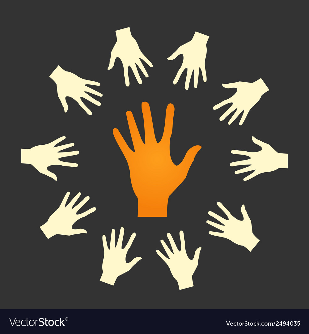 Flat icon hands color abstraction eps vector | Price: 1 Credit (USD $1)