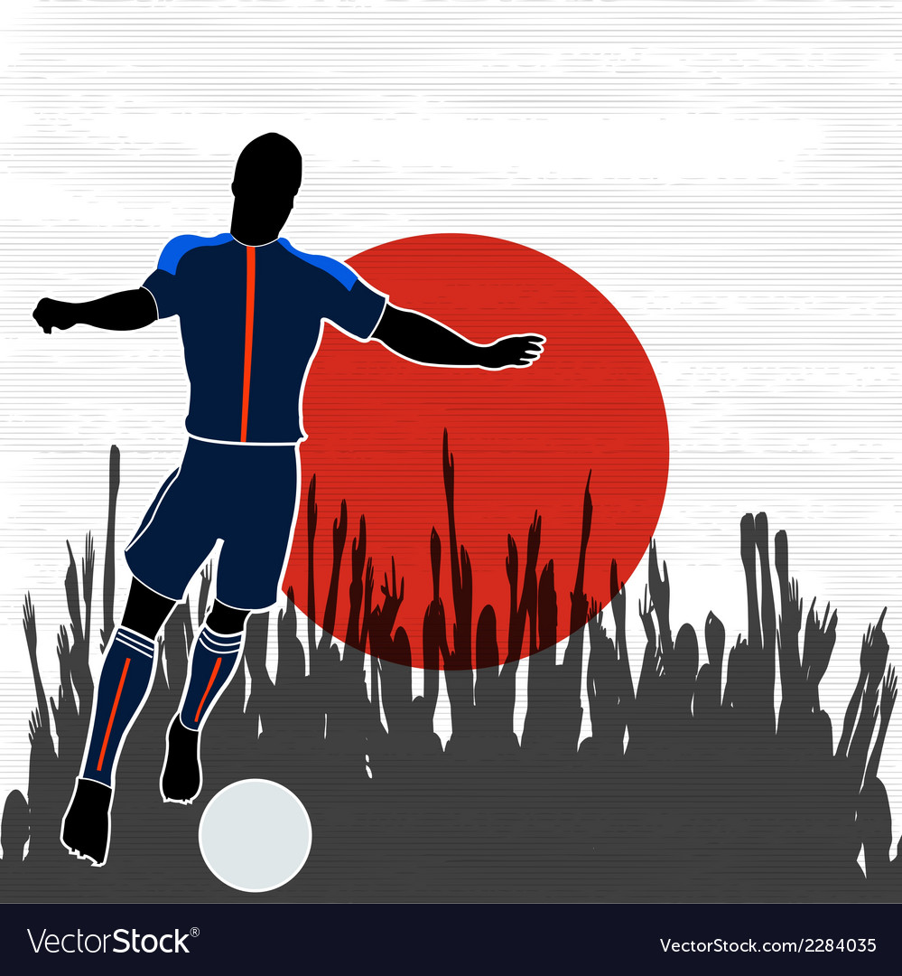 Football japan vector | Price: 1 Credit (USD $1)