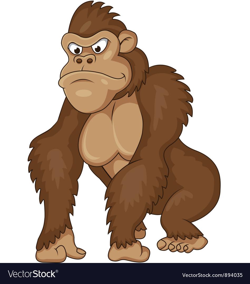 Gorilla cartoon vector | Price: 3 Credit (USD $3)