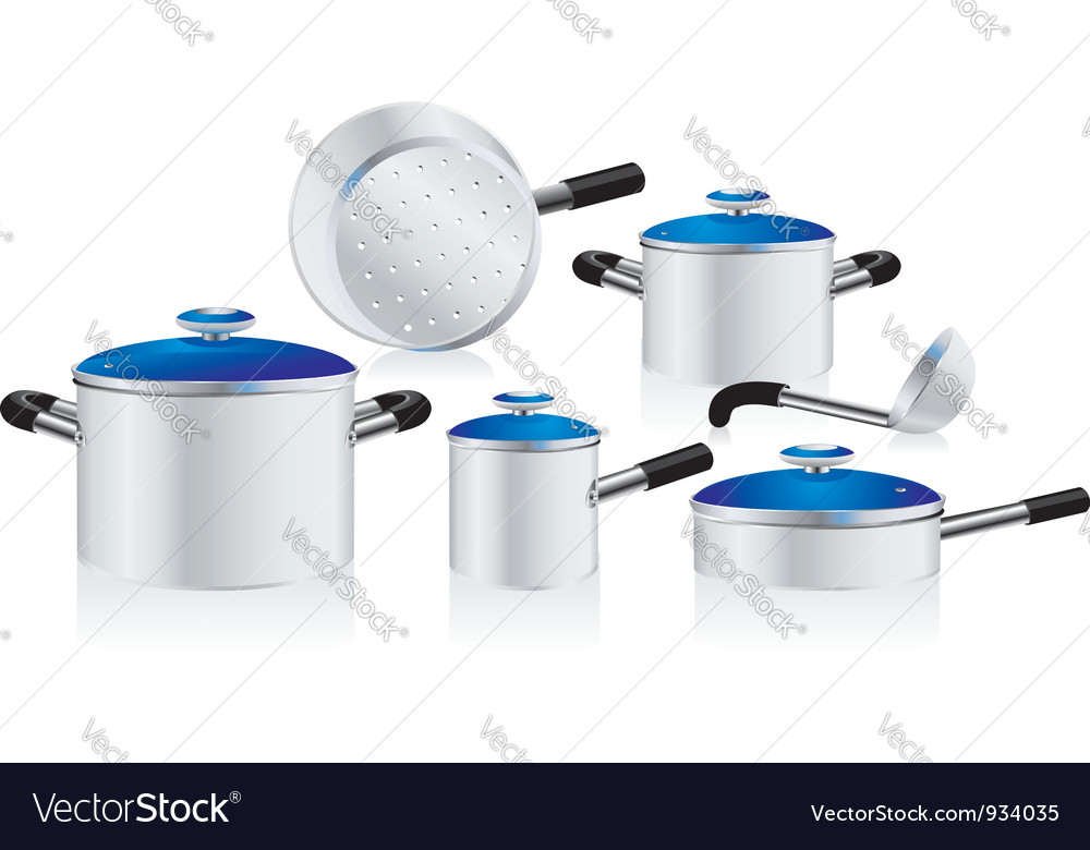 Metallic pans vector | Price: 1 Credit (USD $1)