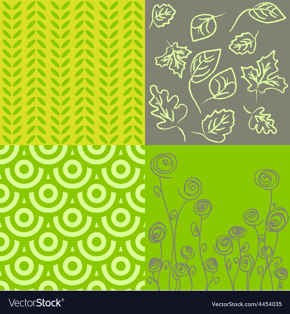 Patterns in grey and green vector   Price: 1 Credit (USD $1)