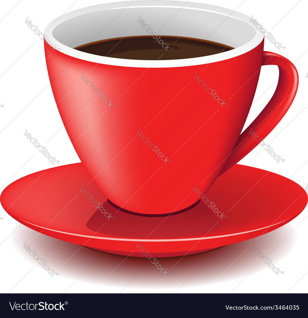 Red coffee cup vector | Price: 1 Credit (USD $1)