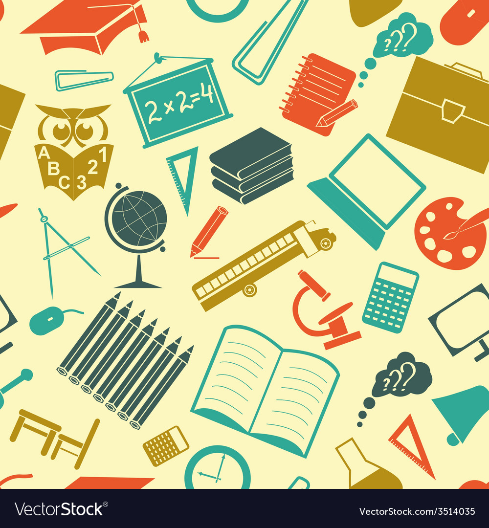 School background seamless vector | Price: 1 Credit (USD $1)