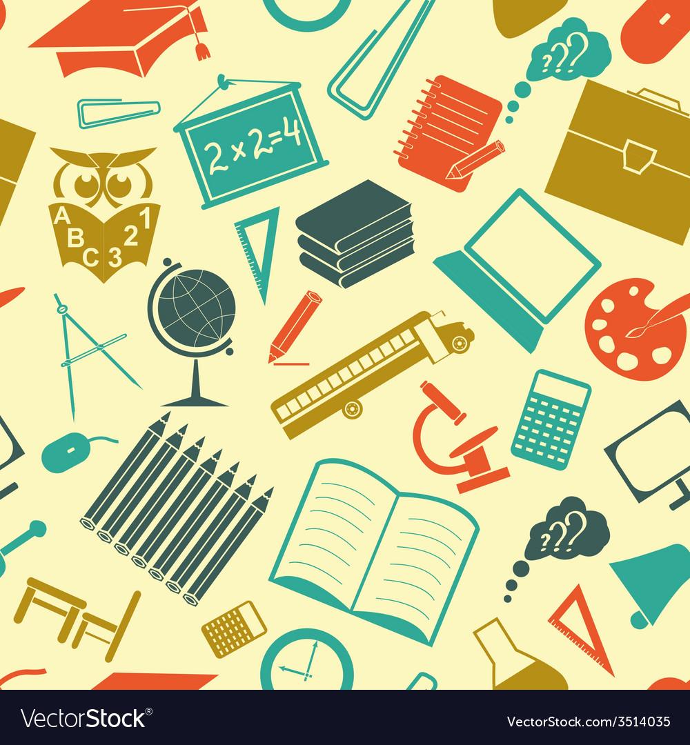 School background seamless vector | Price: 1 Credit (USD $1)