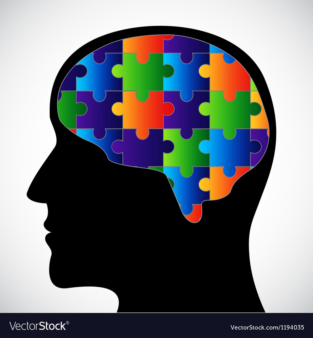 Silhouette with brain vector   Price: 1 Credit (USD $1)