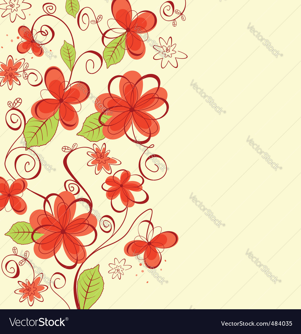 Summer flowers background vector | Price: 1 Credit (USD $1)