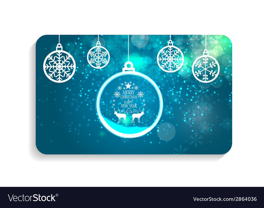 Abstract beauty christmas and new year card vector | Price: 1 Credit (USD $1)