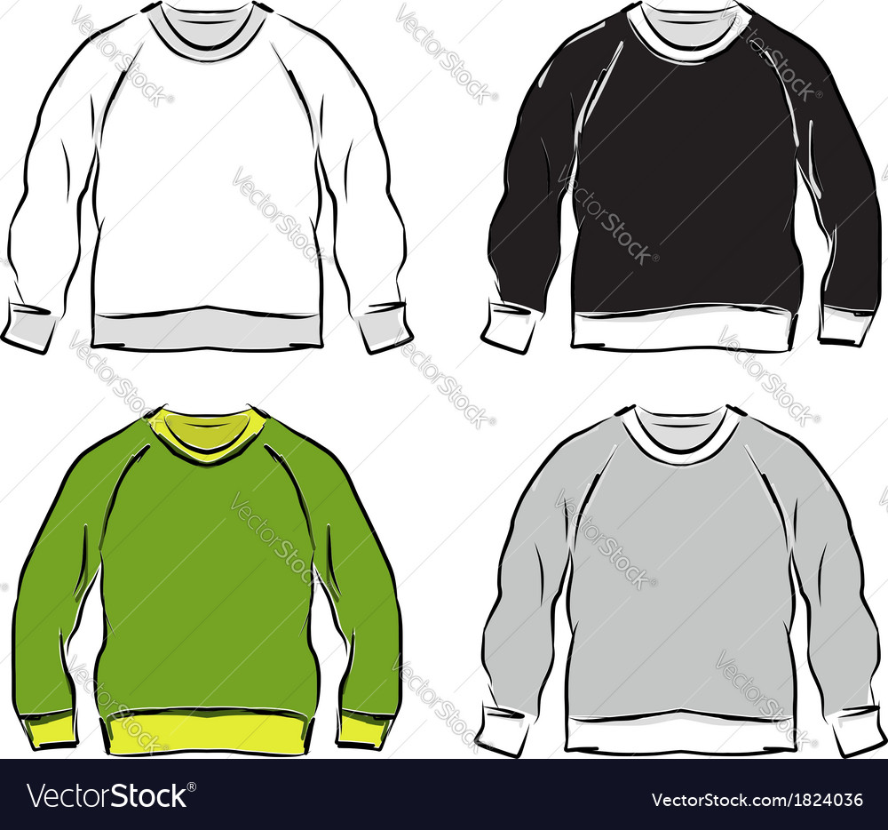 Abstract sweatshirts set sketch for your design vector | Price: 1 Credit (USD $1)