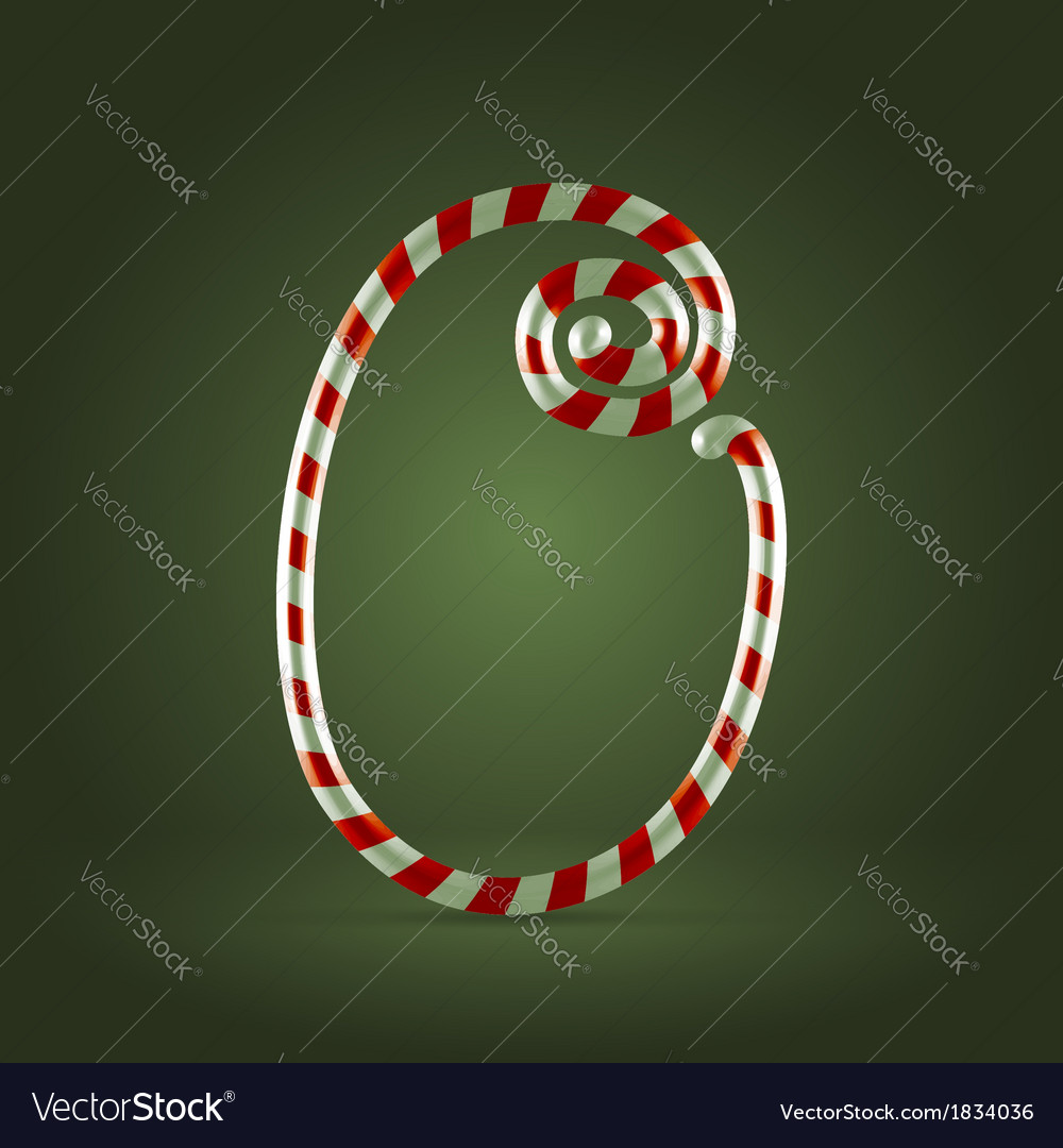 Candy cane abc 0 vector | Price:  Credit (USD $)