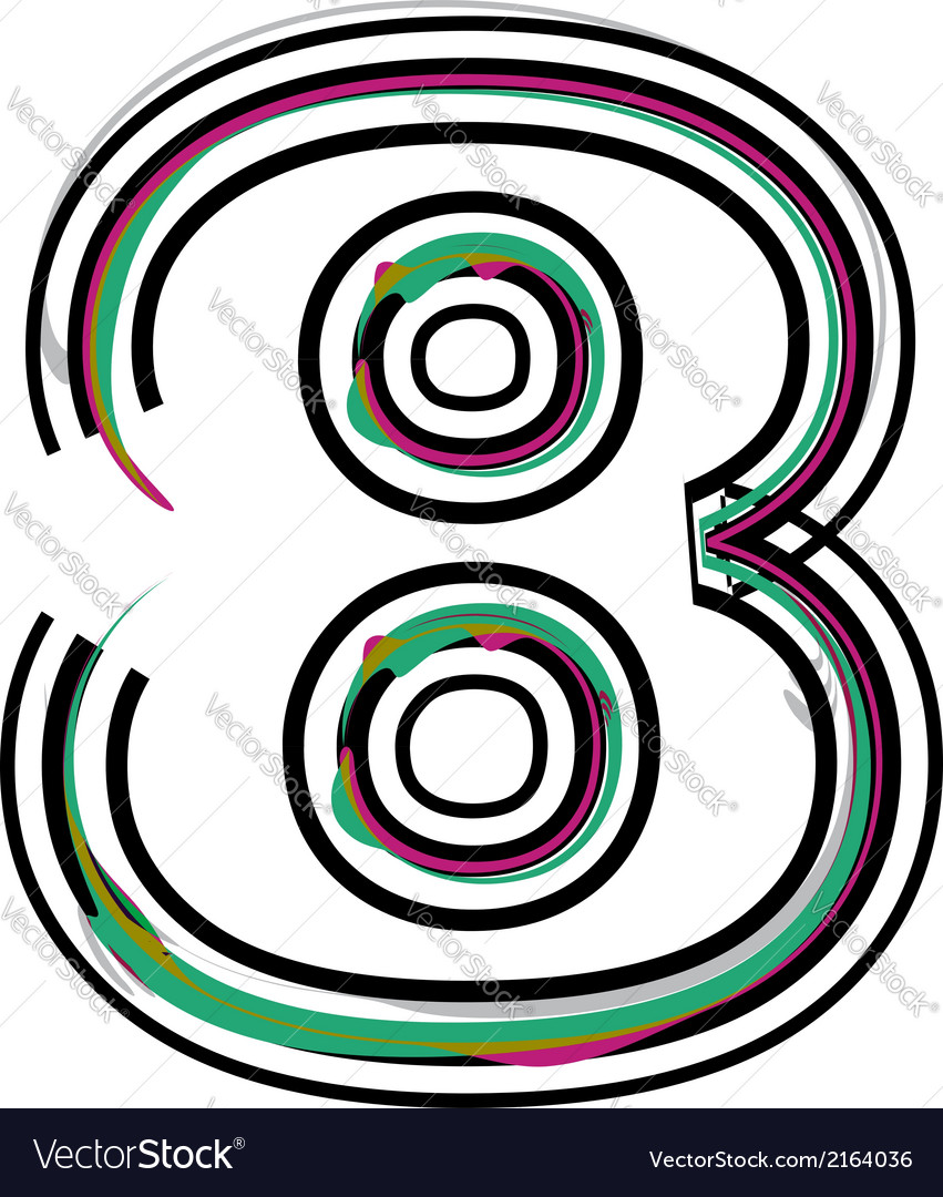 Font number 8 vector | Price: 1 Credit (USD $1)