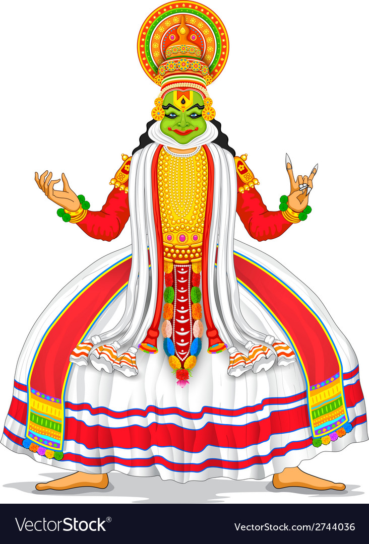 Kathakali dancer vector | Price: 1 Credit (USD $1)
