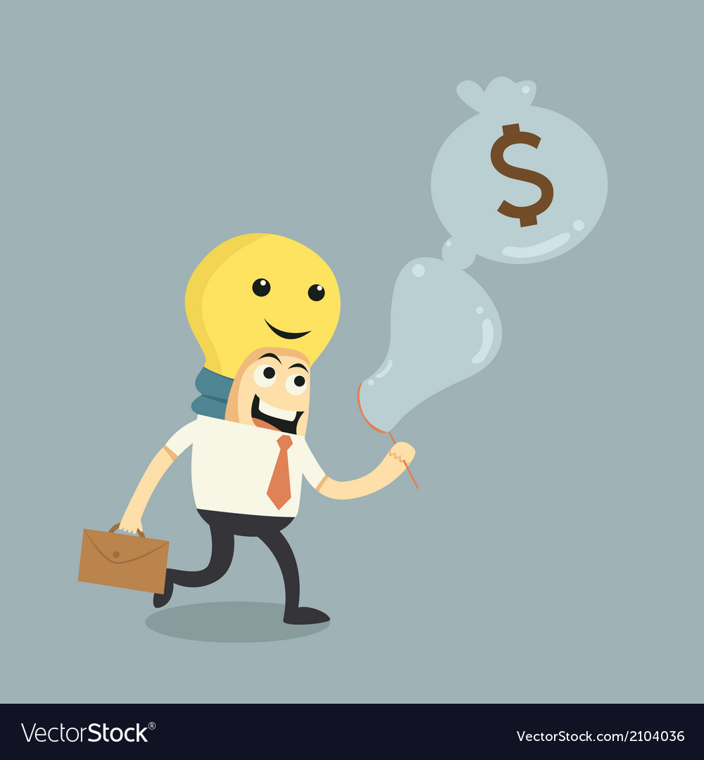 Make ideas to money vector | Price: 1 Credit (USD $1)