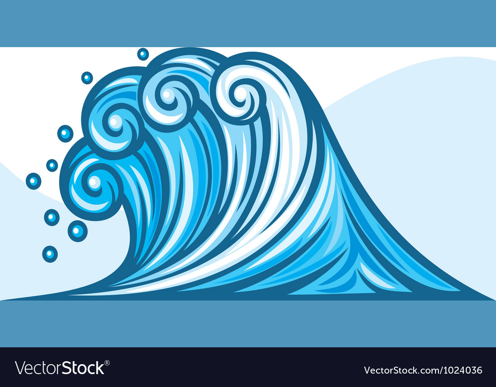 Ocean wave vector | Price: 1 Credit (USD $1)