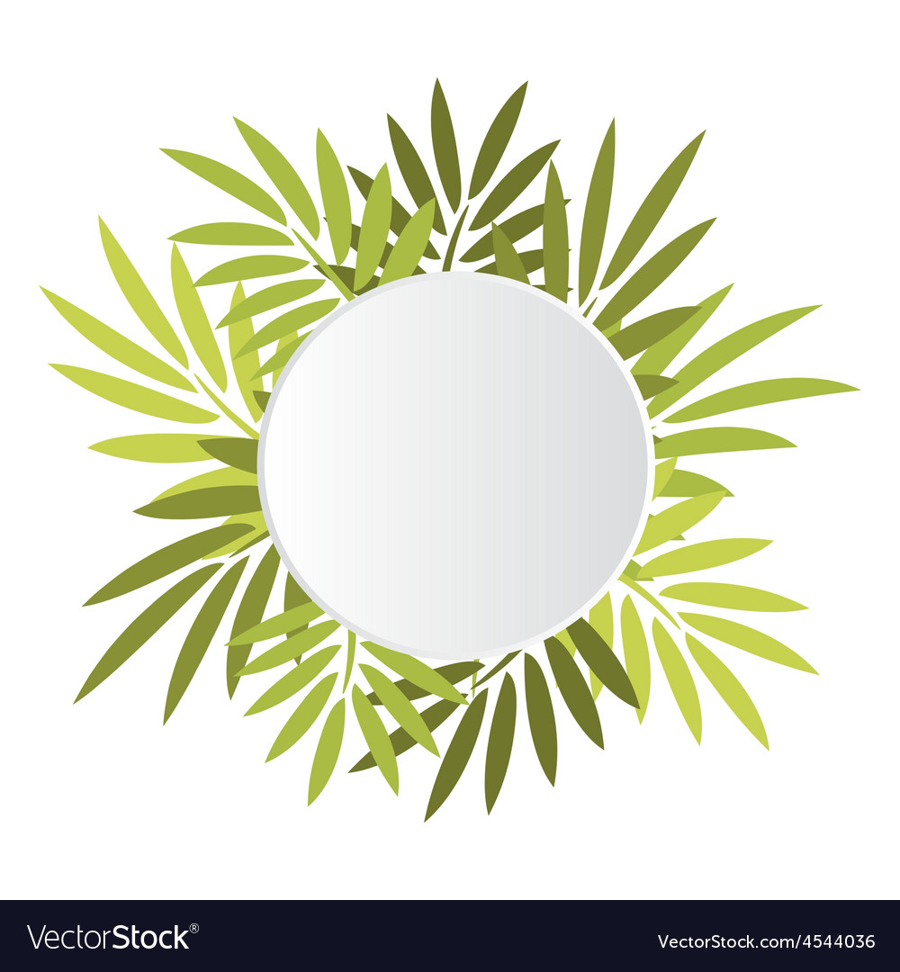 Round banner with leaves vector   Price: 1 Credit (USD $1)