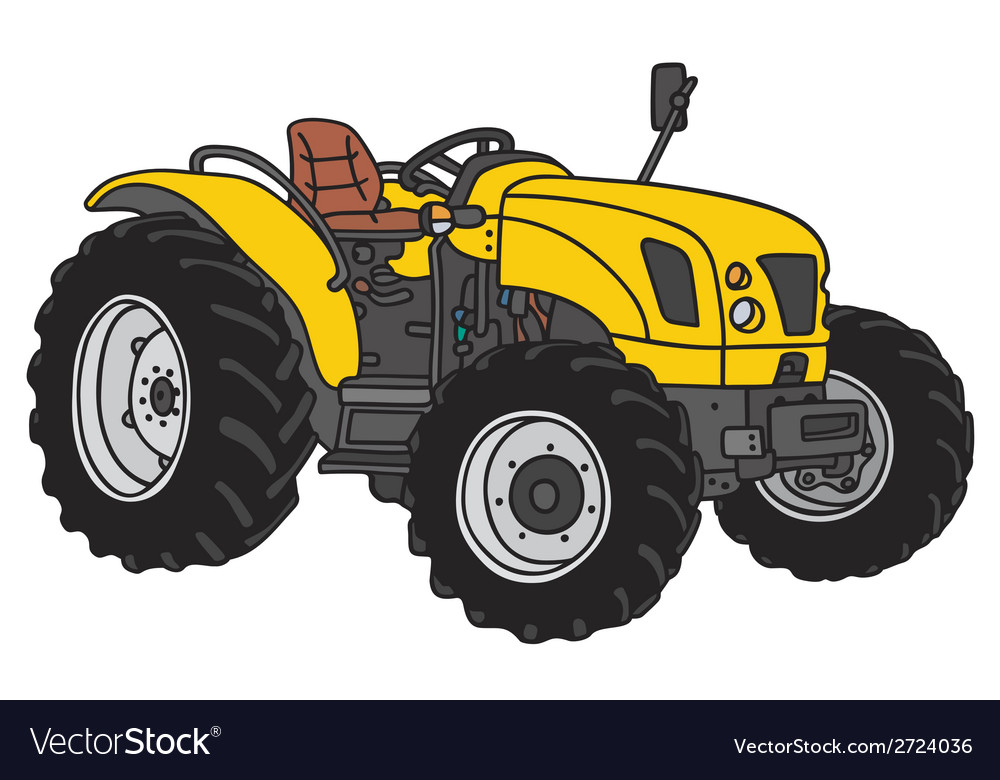 Small tractor vector | Price: 1 Credit (USD $1)