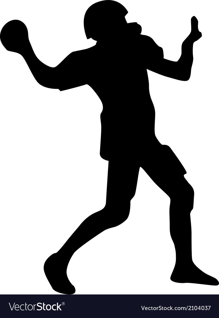 American football player silhouette vector | Price: 1 Credit (USD $1)