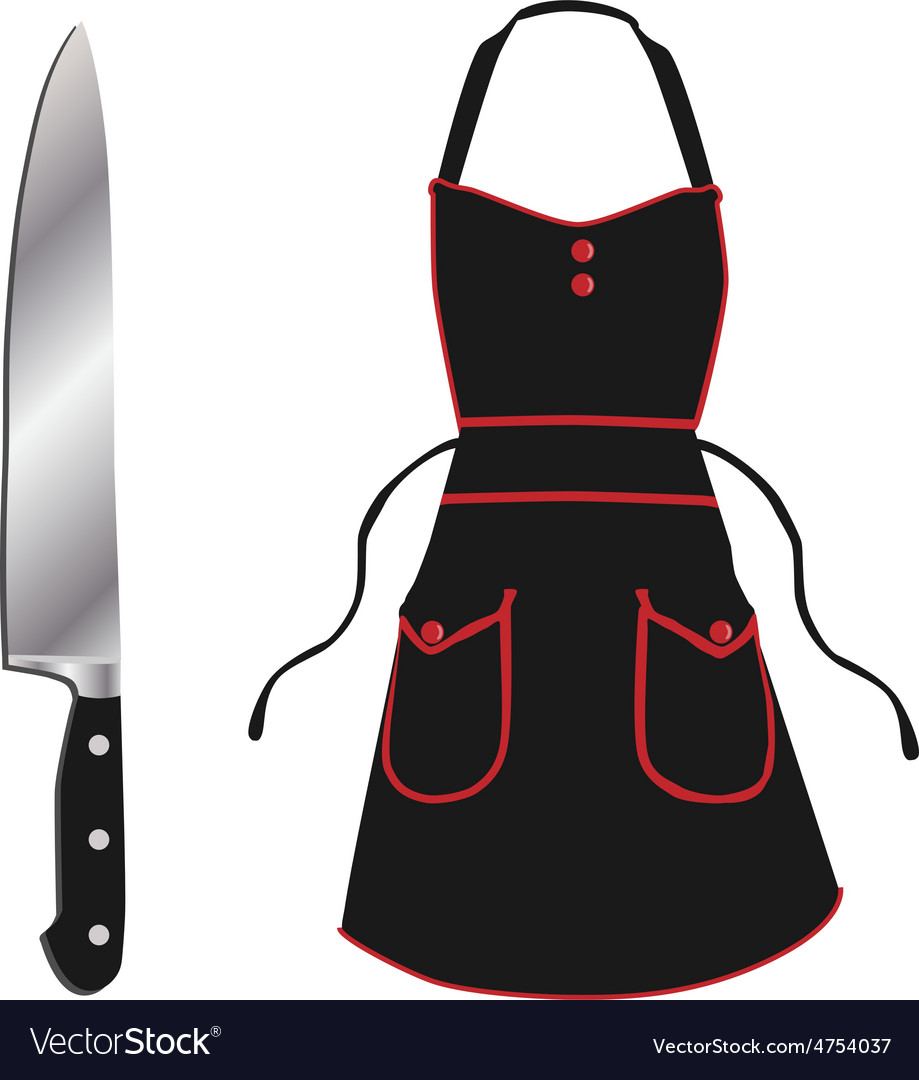 Apron and knife vector | Price: 1 Credit (USD $1)