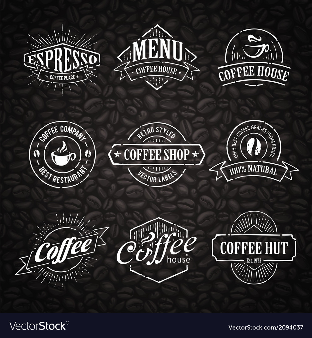Coffee shop emblems 3 vector | Price: 1 Credit (USD $1)
