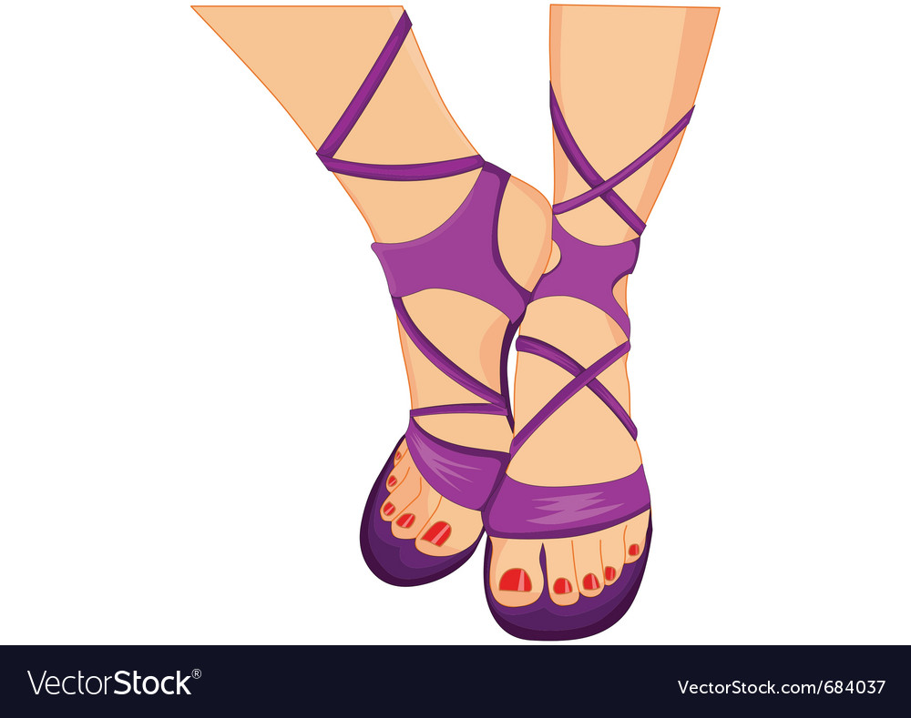Female sandals vector | Price: 3 Credit (USD $3)