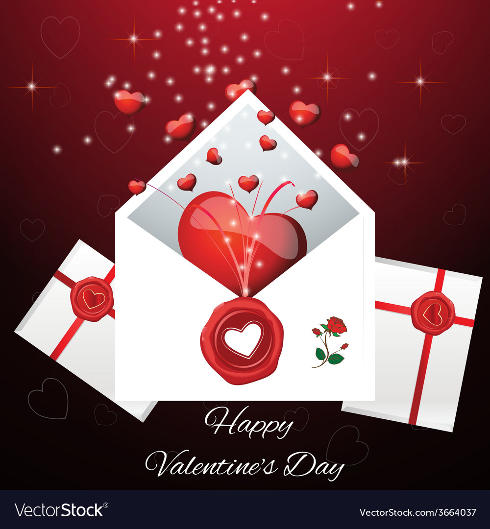 Greeting card for valentines da vector | Price: 1 Credit (USD $1)
