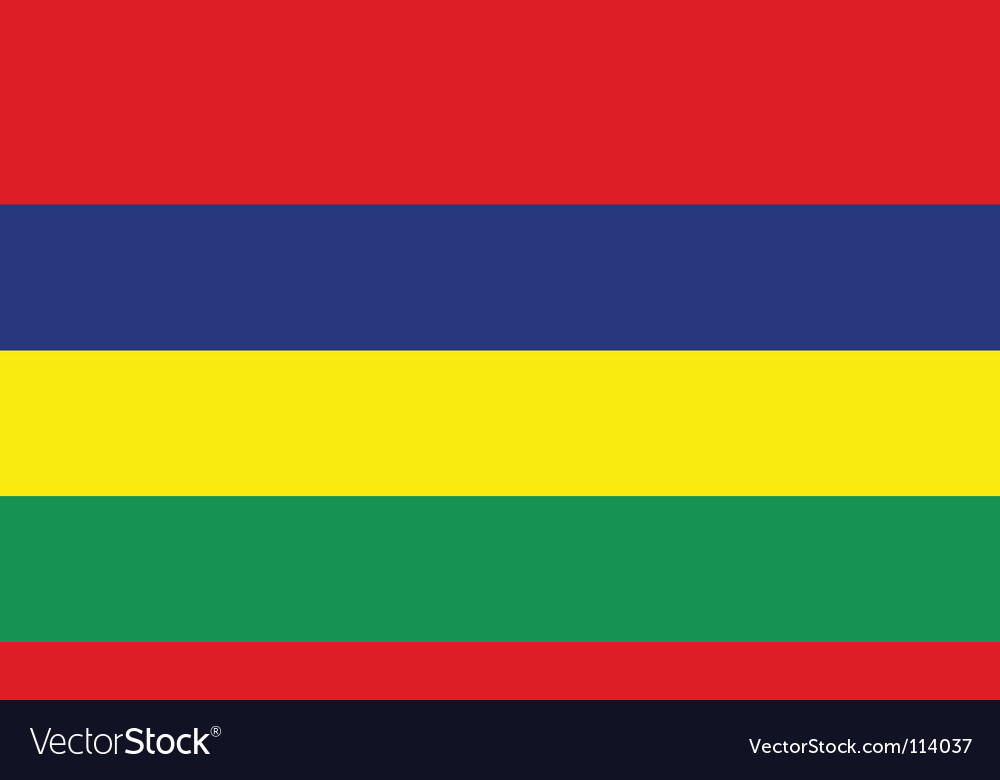 Mauritius flag vector | Price: 1 Credit (USD $1)