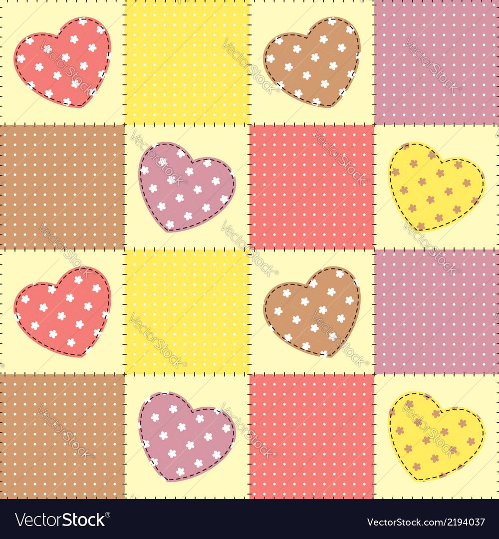 Romantic patchwork vector | Price: 1 Credit (USD $1)