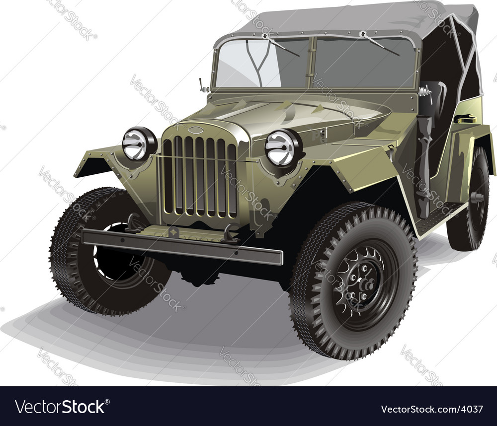 Russian army jeep vector | Price: 5 Credit (USD $5)