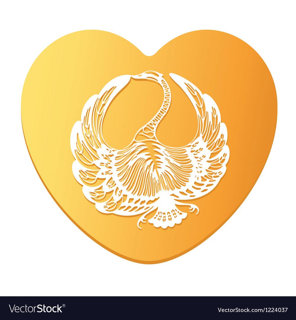 Swan clip art vector | Price: 1 Credit (USD $1)