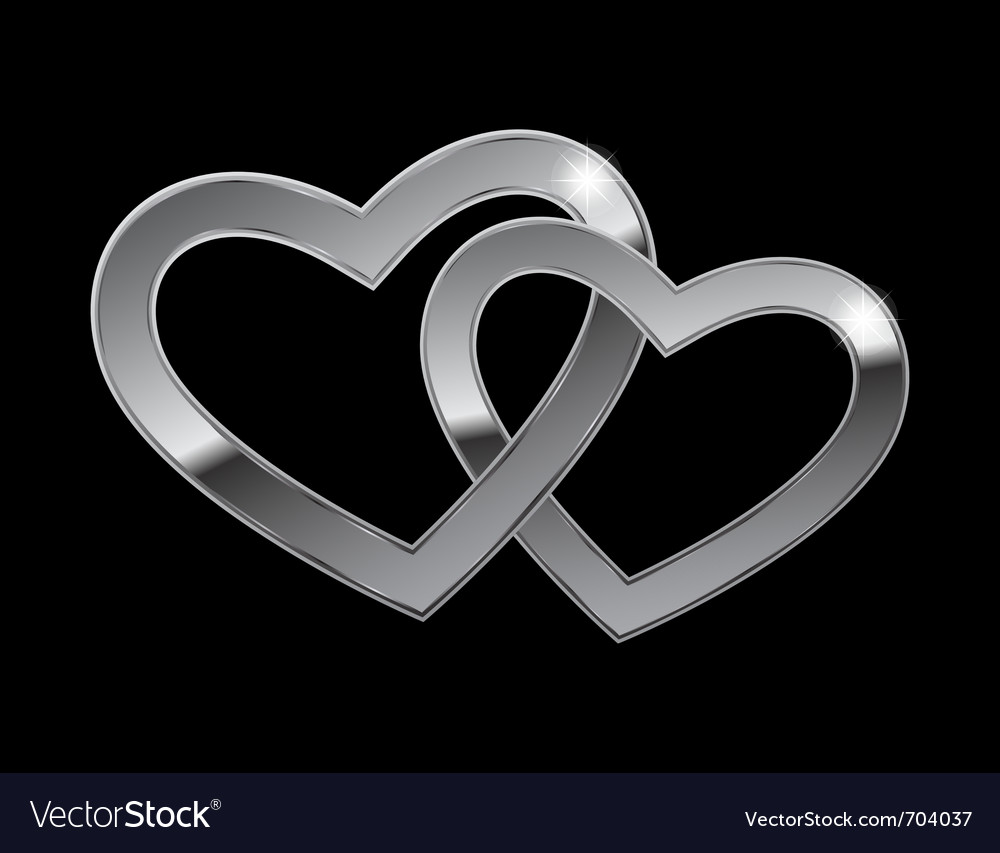 Two metal hearts vector | Price: 1 Credit (USD $1)