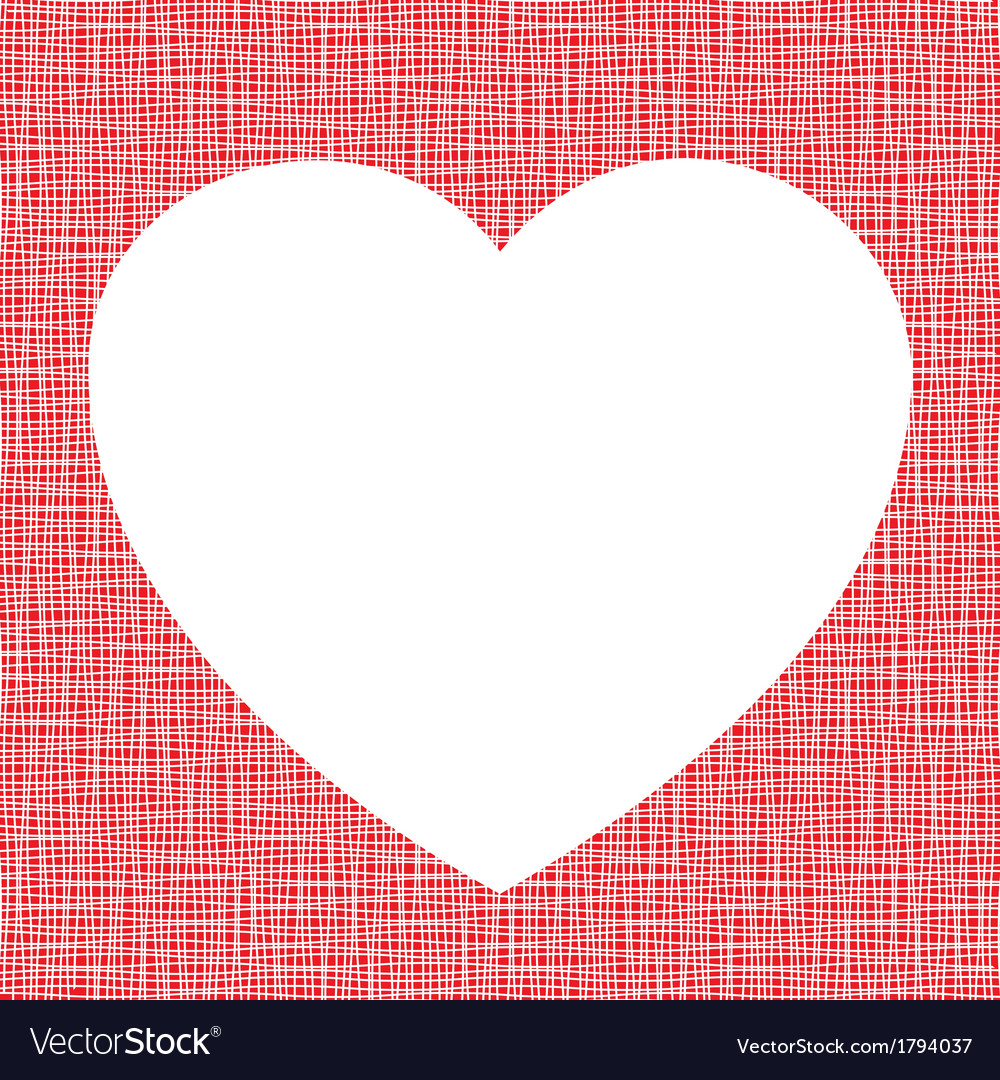 White heart on canvas texture vector | Price: 1 Credit (USD $1)