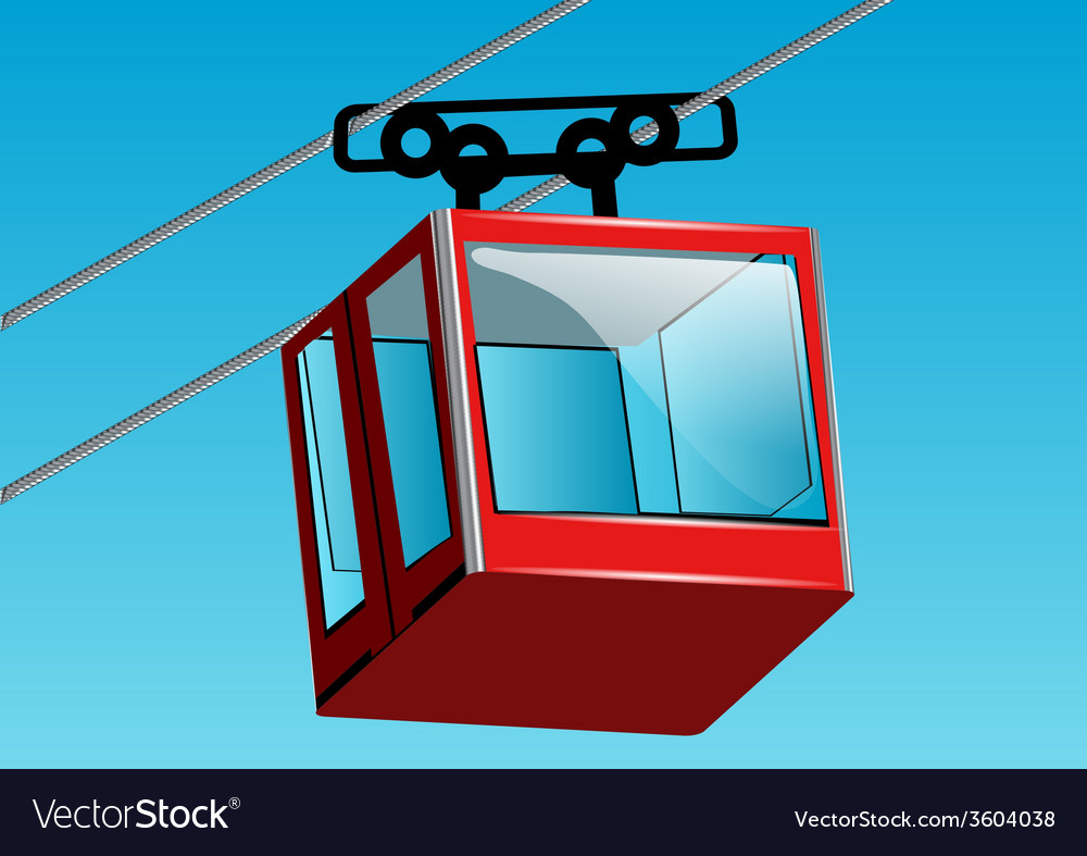 Cable lift car vector | Price: 1 Credit (USD $1)