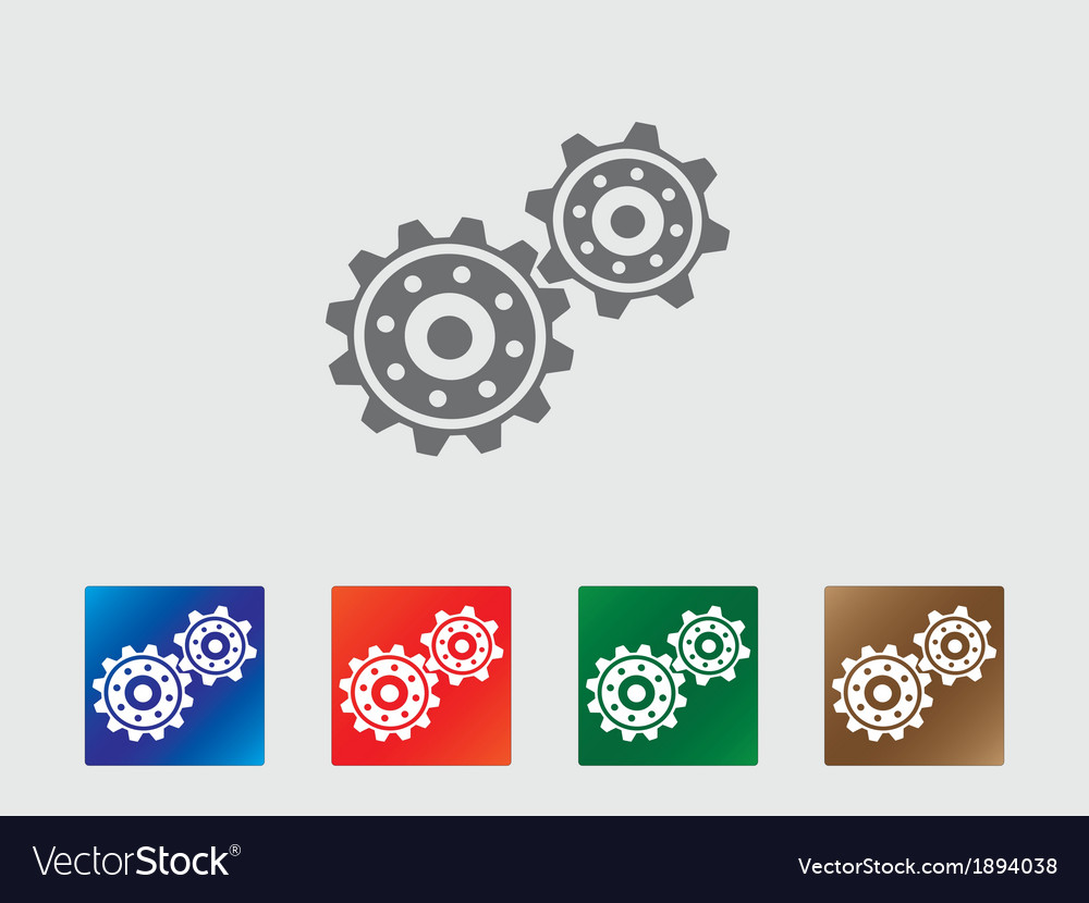 Gear wheels icon vector | Price: 1 Credit (USD $1)