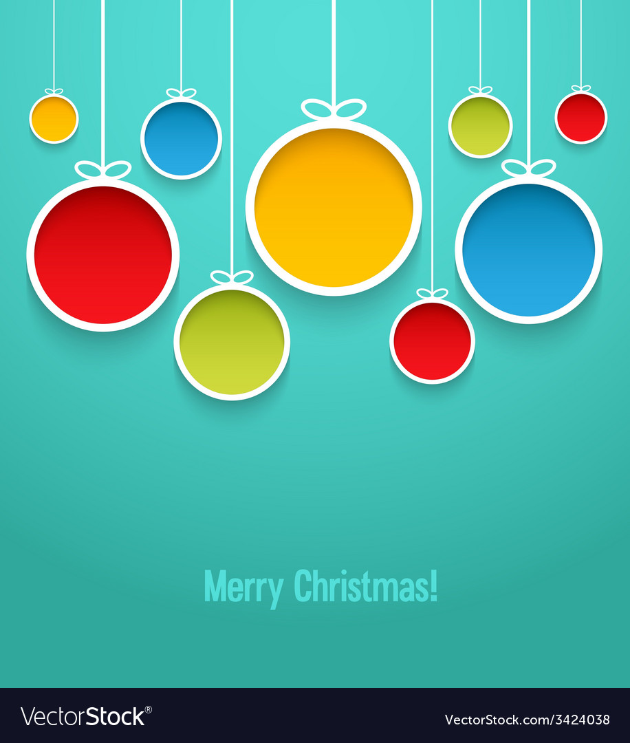 Hanging christmas balls vector | Price: 1 Credit (USD $1)